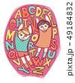 キッズ アルファベット デザインのイラスト 49184832