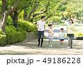 家族 ジョギング アウトドア 親子イメージ 49186228