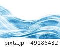 水彩画 風 波のイラスト 49186432