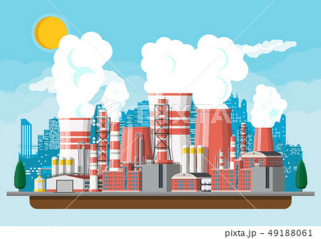 Industrial factory, power plant. 49188061