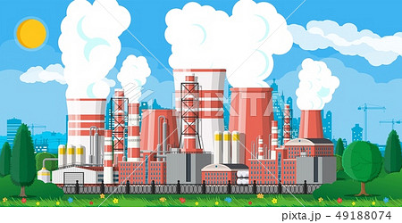 Industrial factory, power plant. 49188074