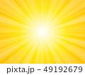 背景 放射状 黄色のイラスト 49192679