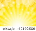 背景 放射状 黄色のイラスト 49192680