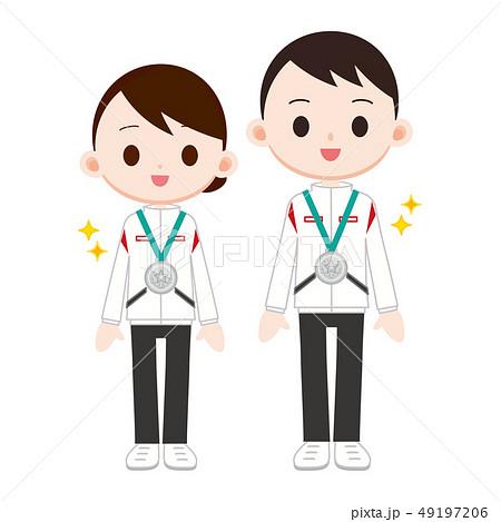 銀メダル 男女 準優勝 二位 49197206