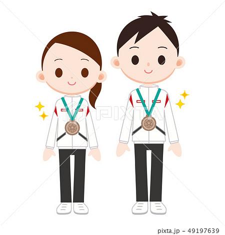 銅メダル 男女 三位 49197639