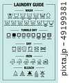 Laundry guide, washing care signs, symbols, vector 49199381