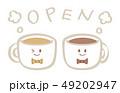 コーヒーのキャラクター OPEN  49202947