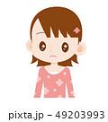 目がキラキラ 微妙な表情の女の子 49203993