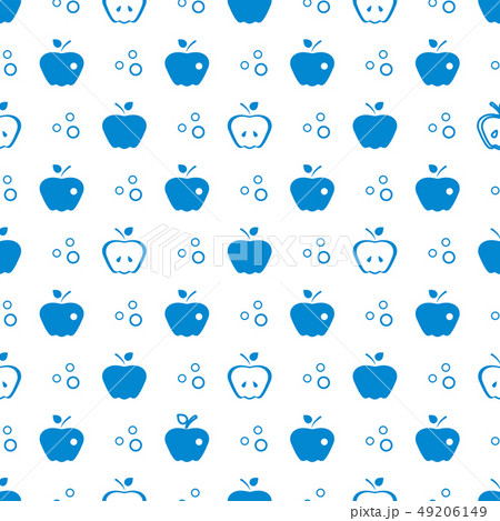 Seamless pattern with apples Fruit background. 49206149