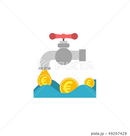Coin Faucet Flat Vector Icon. 49207429