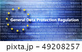 General regulations for protection of personal data on background with binary code 49208257