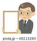 発表 フレーム 男性のイラスト 49213265