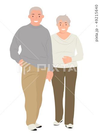 Cartoon people character design senior couple 49215640