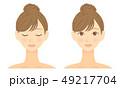 女性 顔 ビューティーのイラスト 49217704