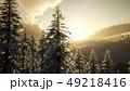 Majestic Winter Landscape Glowing by Sunlight 49218416