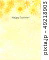暑中見舞い はがきテンプレート はがきのイラスト 49218903
