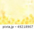 水彩 向日葵 背景のイラスト 49218907