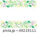 フレーム 植物 花のイラスト 49219111