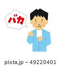 男性、スマホ、イジメ、sns、誹謗中傷(いじめられる方)(シンプルタッチ) 49220401