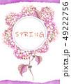 透明水彩 水彩画 紫陽花のイラスト 49222756