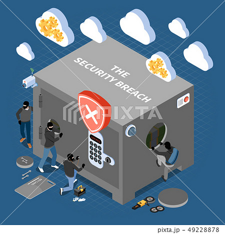 Security Breach Isometric Composition 49228878