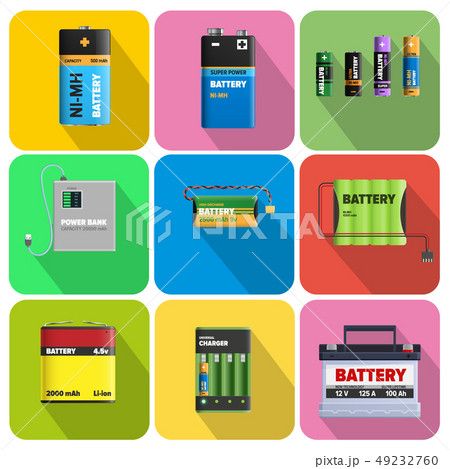 Colorful Charging Devices Illustrations Set 49232760
