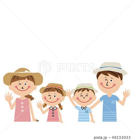 ポップな家族 夏服ではーい! 49233033
