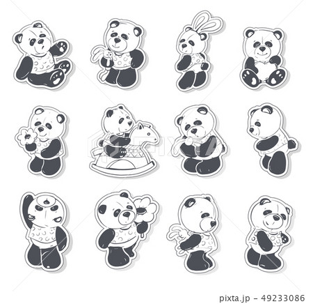 Cute and funny panda 49233086