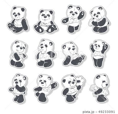Cute and funny panda 49233091