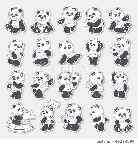 Cute and funny panda 49233094