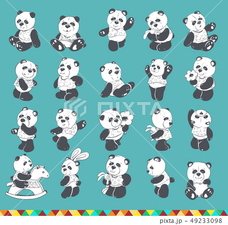 Cute and funny panda 49233098