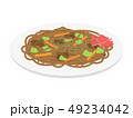 焼きそば 麺類 料理のイラスト 49234042