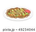 焼きそば 麺類 料理のイラスト 49234044