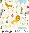 ジャングル 密林 パターンのイラスト 49236777