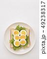 食パン パン 卵の写真 49238317