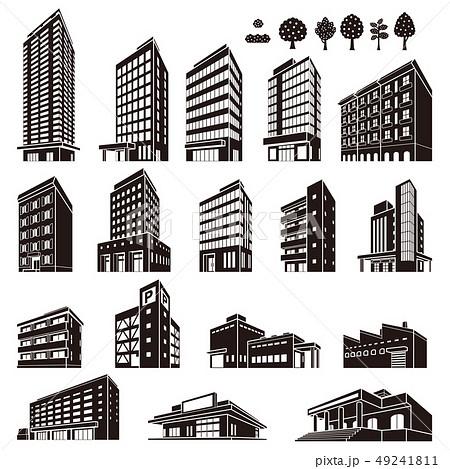 いろいろな建物のイラスト 49241811