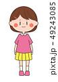 人物 子供 女の子のイラスト 49243085