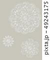 図案化されたレース風花模様の素材 49243175