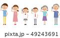 家族 携帯電話 通話のイラスト 49243691