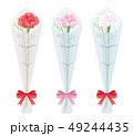 母の日 カーネーション 花束のイラスト 49244435