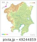 関東の地図・Kanto(等高線・色分け) 49244859