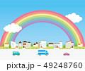背景素材-住宅,車2 49248760