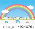 背景素材-住宅,車2 49248761