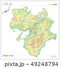 近畿の地図・Kinki(等高線・色分け) 49248794