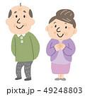 夫婦 シニア 老夫婦のイラスト 49248803