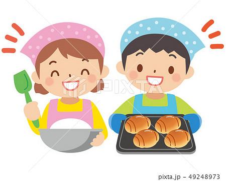 パン作りをする子供 49248973