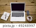 イラスト素材:ビジネスイメージ パソコン カフェ コーヒー スマホ 携帯 49248997