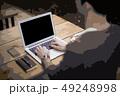 イラスト素材:PC作業 ビジネス ノートパソコン スマートフォン 49248998