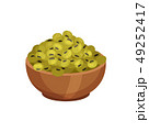 背景 お皿 皿のイラスト 49252417