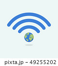 Wifi symbol with planet earth 49255202